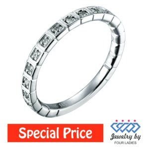 Solid Diamond Stackables Wedding Band White Gold